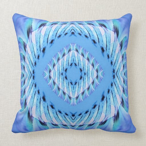 Blue And Lavender Throw Pillows : Lavender Blue Faux Chenille Throw Pillow Zazzle