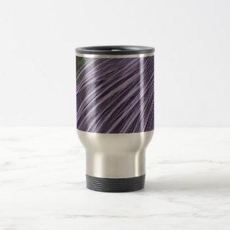 Lavender Blue Feathers Travel Mug