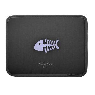 Lavender Blue Fish Bones MacBook Pro Sleeve
