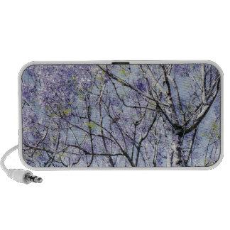 Lavender Blue Floral Branches Mini Speakers