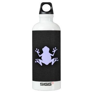 Lavender Blue Frog Aluminum Water Bottle