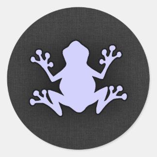 Lavender Blue Frog Round Stickers