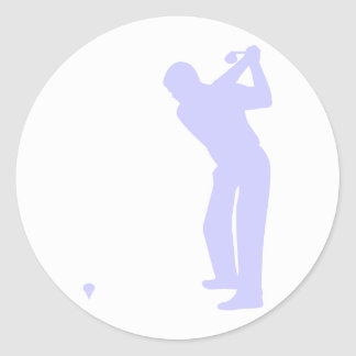 Lavender Blue Golf Classic Round Sticker