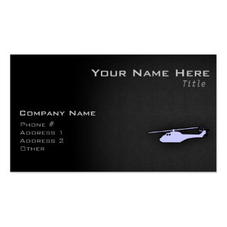Lavender Blue Helicopter Double-Sided Standard Business Cards (Pack Of 100)