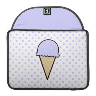 Lavender Blue Ice Cream Cone MacBook Pro Sleeves