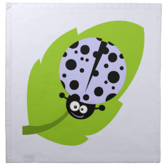 Lavender Blue Ladybug Cloth Napkin