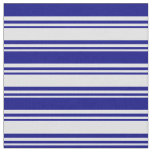 [ Thumbnail: Lavender & Blue Lined Pattern Fabric ]