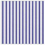 [ Thumbnail: Lavender & Blue Lined/Striped Pattern Fabric ]