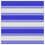 [ Thumbnail: Lavender & Blue Lines Fabric ]
