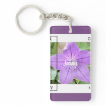 LAVENDER BLUE LOVE KEY CHAIN