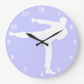 Lavender Blue Martial Arts Clock