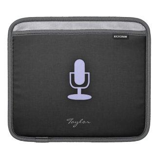 Lavender Blue Microphone iPad Sleeve