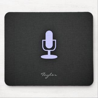 Lavender Blue Microphone Mouse Pad