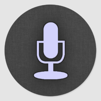 Lavender Blue Microphone Stickers