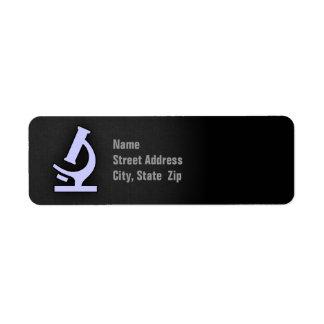 Lavender Blue Microscope Label
