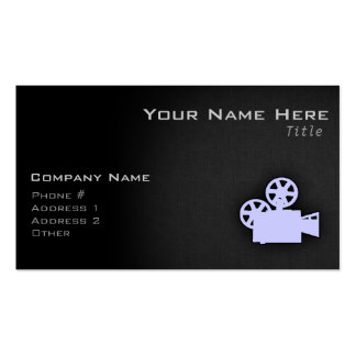Lavender Blue Movie Camera Double-Sided Standard Business Cards (Pack Of 100)