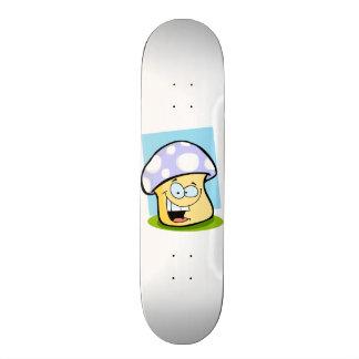 Lavender Blue Mushroom Skate Board Deck