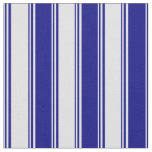 [ Thumbnail: Lavender & Blue Pattern of Stripes Fabric ]
