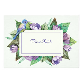 Lavender Blue Personalized Stationery Card