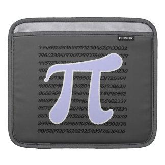 Lavender Blue Pi symbol iPad Sleeves
