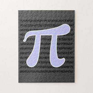 Lavender Blue Pi symbol Jigsaw Puzzle