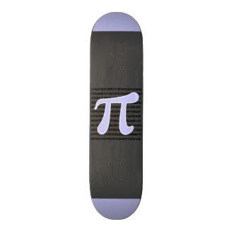 Lavender Blue Pi symbol Skateboard