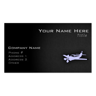 Lavender Blue Plane Double-Sided Standard Business Cards (Pack Of 100)