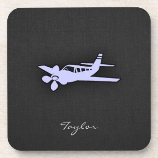 Lavender Blue Plane Drink Coaster