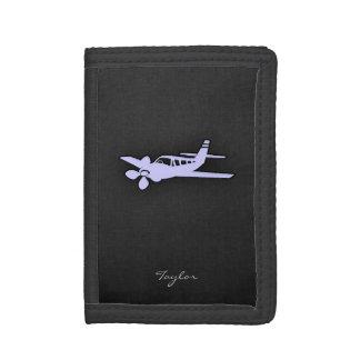 Lavender Blue Plane Tri-fold Wallet