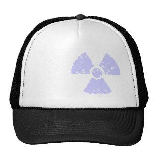 Lavender Blue Radioactive Symbol Trucker Hat