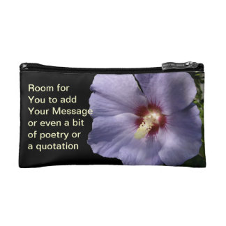 Lavender Blue Rose of Sharon Cosmetic Bag