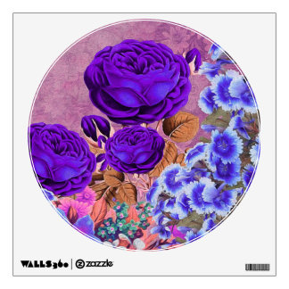 Lavender Blue Roses Wall Sticker