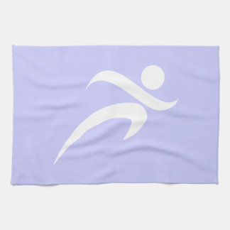Lavender Blue Running Hand Towel