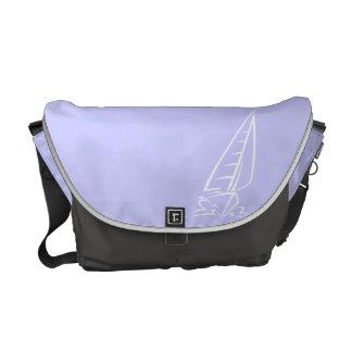 Lavender Blue Sail Boat Messenger Bag