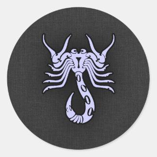 Lavender Blue Scorpio Classic Round Sticker