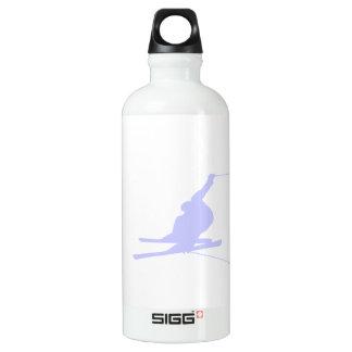 Lavender Blue Snow Skiing Water Bottle