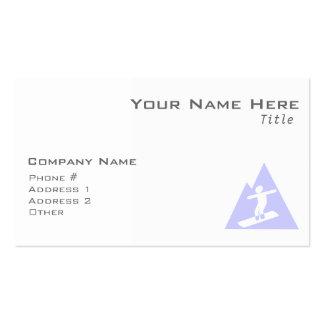 Lavender Blue Snowboarding Business Card