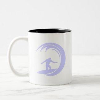 Lavender Blue Surfing Coffee Mug
