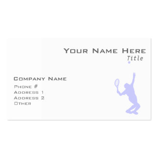Lavender Blue Tennis Double-Sided Standard Business Cards (Pack Of 100)