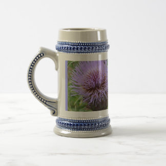 """Lavender-Blue Thistle """"Wet Your Whistle"""" Beer Stein"""