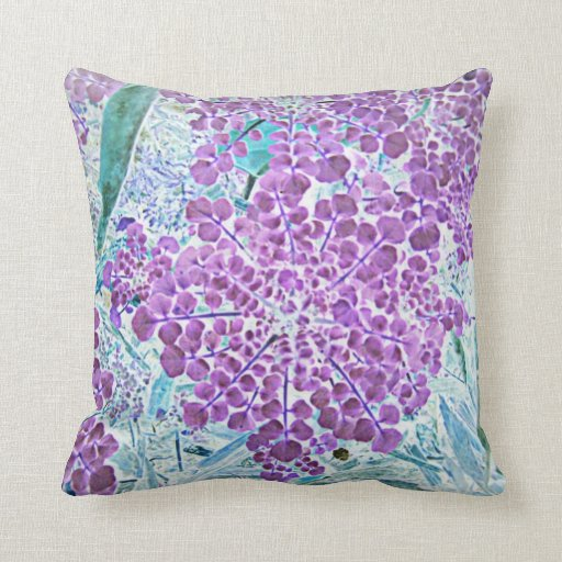 Blue And Lavender Throw Pillows : Lavender Blue Throw Pillow Zazzle