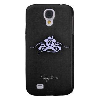Lavender Blue Tropical Hibiscus Samsung Galaxy S4 Case