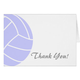 Lavender Blue Volleyball Card