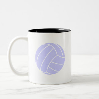 Lavender Blue Volleyball Two-Tone Coffee Mug