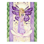 Lavender Blush Postcard, fairy art