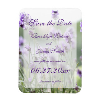 Lavender Bohemian Wedding Save The Date Magnets