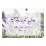 Lavender Bohemian Wedding Thank You Card Custom