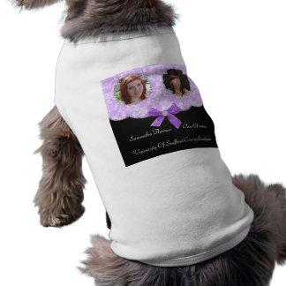 Lavender Bokeh Dots Bling 2 Photos Graduation Shirt