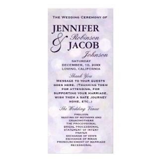 Lavender Bokeh Highlights Wedding Program Rack Card Template