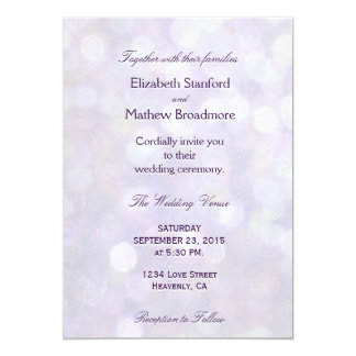 Lavender Bokeh | Wedding Collection Card